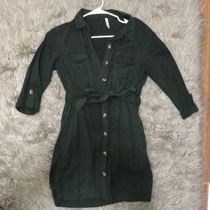 Zara button down tie dress - TRF collection